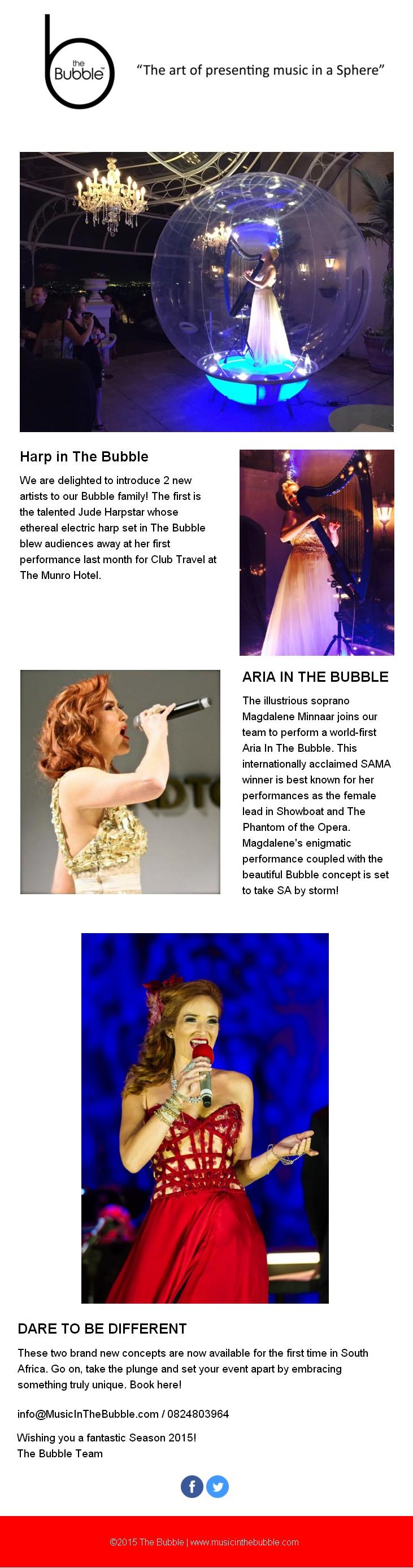 HARP & ARIA IN THE BUBBLE